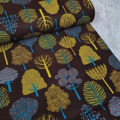 Baumwollstoff - Garden Trees - braun