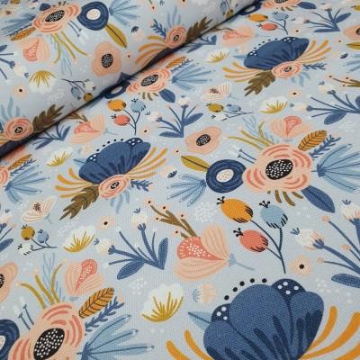 MYO Design - Heavy Canvas Flowerfield - hellblau