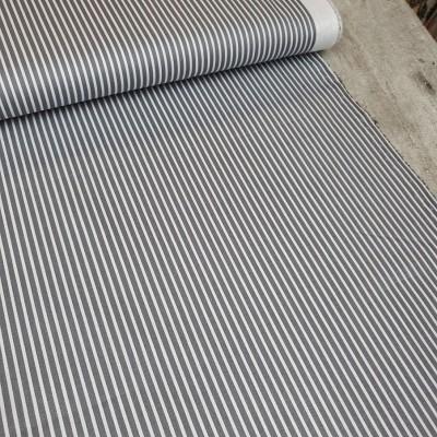Baumwollstoff Streifen grau-weiß