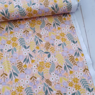 Baumwollstoff Springflowers - peach
