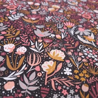 MYO Design Twill - Blumenwiese - rosa-grau