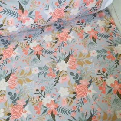 MYO Design Light Canvas - Wildflowers Bouquets - hellgrau