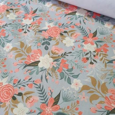 MYO Design - Heavy Canvas - Wildflowers Bouquets - hellgrau