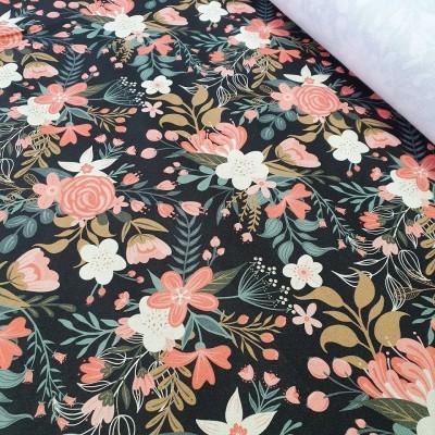 MYO Design - Heavy Canvas - Wildflowers Bouquets - schwarz