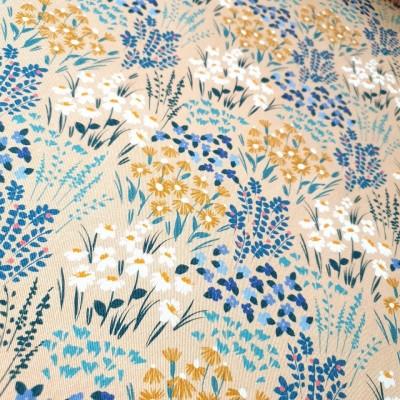 MYO Design Twill - Frühlingswiese - beige