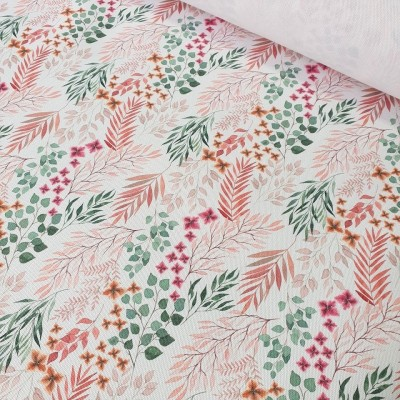 MYO Design - Heavy Canvas - Boho Leaves - weiss