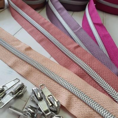 Metallic Reissverschluß silber- verschiedene Farben