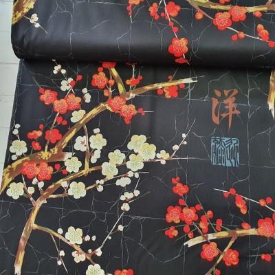 """Kirschblüte """"Golden Garden"""" von Alexander Henry - schwarz metallic"""