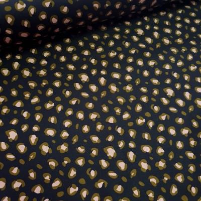 Beschichtete Baumwolle - Leoprint in schwarz