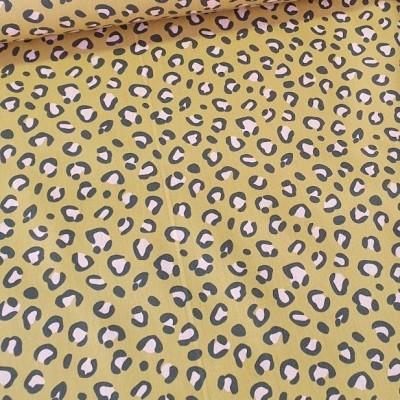 Beschichtete Baumwolle - Leoprint in ocker