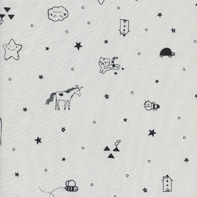 Cotton and Steel - Tines grey - Sleep Tight - Sarah Watts
