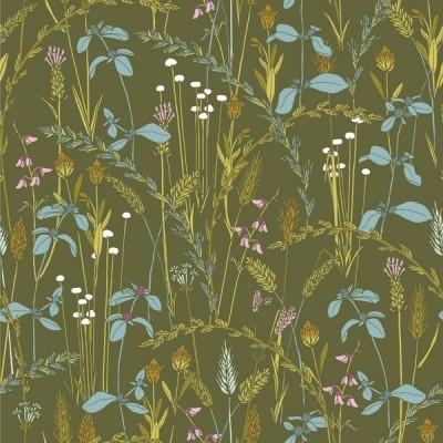 """Little Grasses"" Organic Cotton - Cloud9 Fabrics"