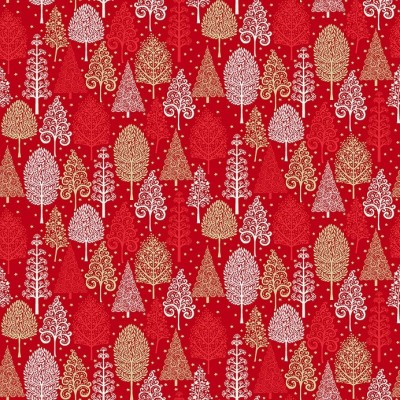 Makower - Scandi - Trees red