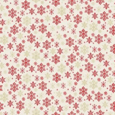 Makower - Scandi - Snowflake red