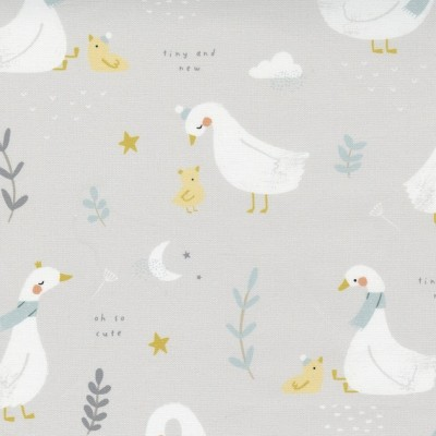 Little Ducklings - Little Ducklings grey - Paper and Cloth  - Moda Fabrics