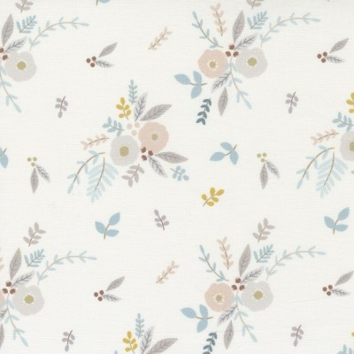 Little Ducklings - Floral Bouquet white - Paper and Cloth  - Moda Fabrics