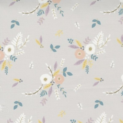 Little Ducklings - Floral Bouquet grey - Paper and Cloth  - Moda Fabrics