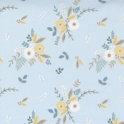 Little Ducklings - Floral Bouquet blue - Paper and Cloth  - Moda Fabrics