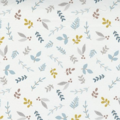 Little Ducklings - Foliage Sprigs white - Paper and Cloth  - Moda Fabrics
