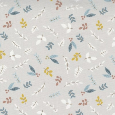 Little Ducklings - Foliage Sprigs grey - Paper and Cloth  - Moda Fabrics