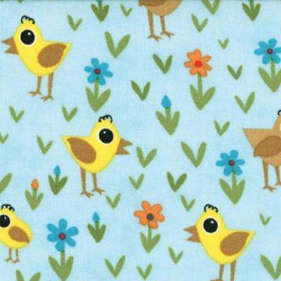 Moda Oink a Doodle Moo - Vögelchen auf der Wiese :-)