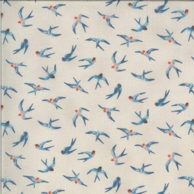 """Flying Hi"" linen - Lulu von Chez Moi - Moda Fabrics"