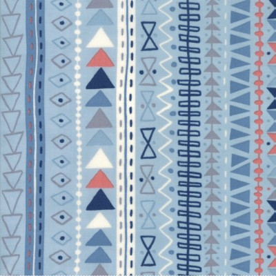 """Tribal Stripe"" sky - Wild and Free - Moda Fabrics"