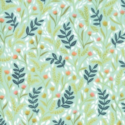 Golden Rod - Meadow Floral - türkis - Moda Fabrics von One Canoe Two