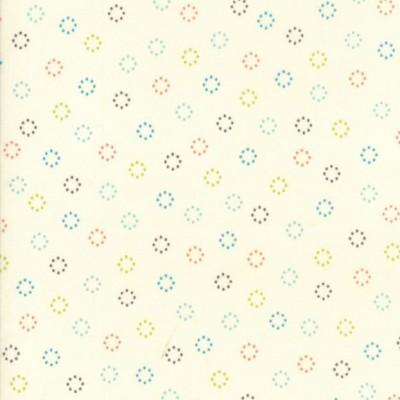 """""""Daisy Dots"""" ivory- Creekside - Moda Fabrics"""