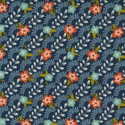Trellis Climb, midnight - Songbook - Moda Fabrics