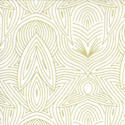 Nouveau ivory metallic - Dwell in Possibility von Gingiber - Moda Fabrics