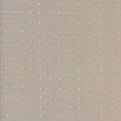 Cotton and Steel - Double dots neon pink - Black and White