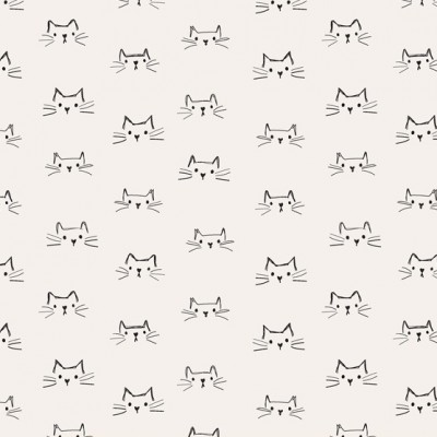 Windham Fabrics - Mod Cats - weiss