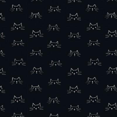 Windham Fabrics - Mod Cats - schwarz