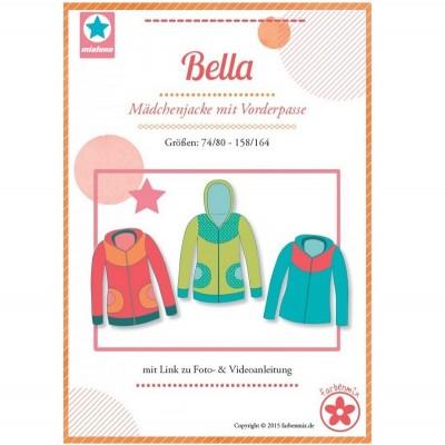 Bella Farbenmix Mädchenjacke mit Vorderpasse Schnittmuster