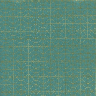 Cotton and Steel - Akoma - Geo Grid - metallic sky