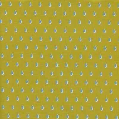 Quarter 45cmx56cm - Cotton and Steel - Drops mustard - Beauty Shop