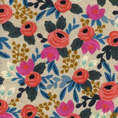 Cotton+Steel Canvas - Le Fleurs - Rosa Floral - natural