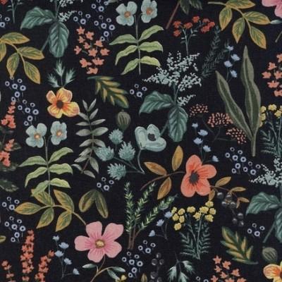 Cotton+Steel Canvas - Amalfi - Herb Garden midnight