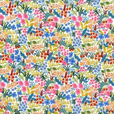 Cotton and Steel - English Garden - Meadow - white