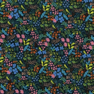 Cotton and Steel - English Garden - Meadow - navy