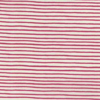Reststück 67cmx112cm - Cotton and Steel - English Garden - Streifen - pink