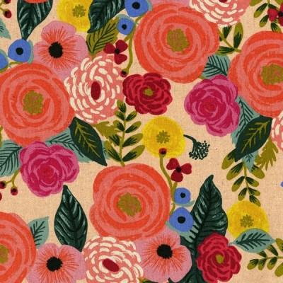 Cotton+Steel Canvas - Juliet Rose - cream