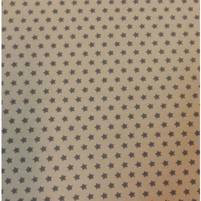 Reststück130cm x 160cm - Sternchenjersey Stenzo beige-grau