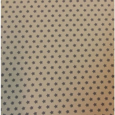Reststück 1mx1,50m - Sternchenjersey Stenzo beige-grau
