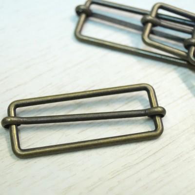 Union Knopf Metallschließe, altmessing, 50mm