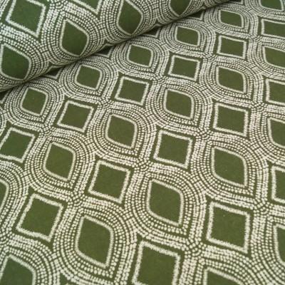 Reststück 1mx140cm - Dekostoff / Canvas Marrakesch - grün