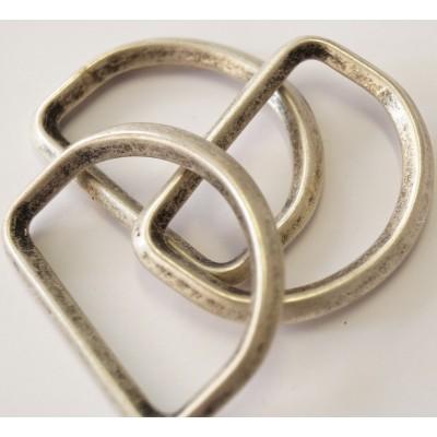 D-Ring silber matt 40mm