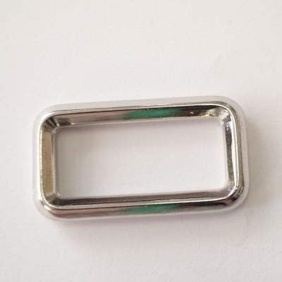 Metall-Rechteck silber glänzend 40mm