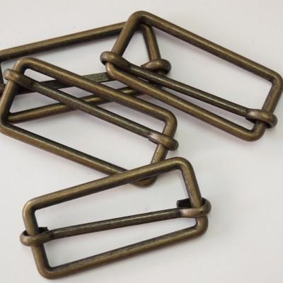Metallschließe messing matt 25mm